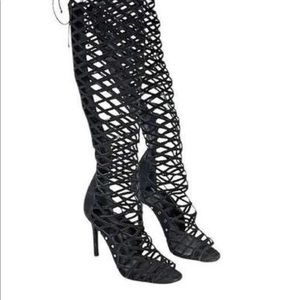 SCHUTZ  Over the Knee Caged Boots